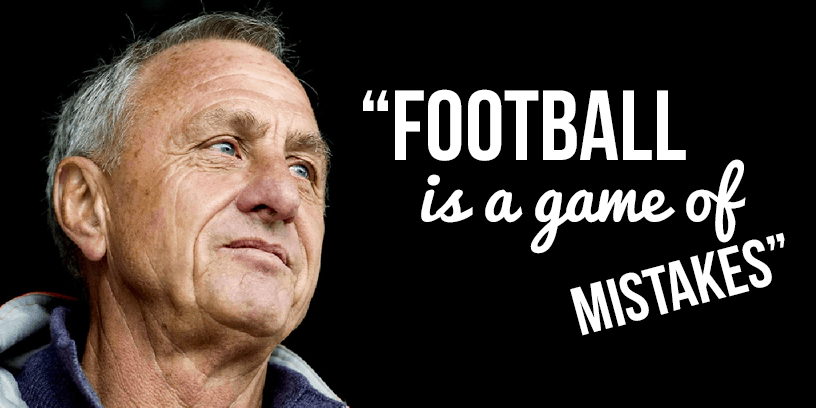 Johan Cruyff Soccer Football Quote