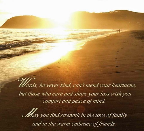 60 Sympathy Condolence Quotes For Loss With Images Impressive Quotes On Loss Of A Loved One