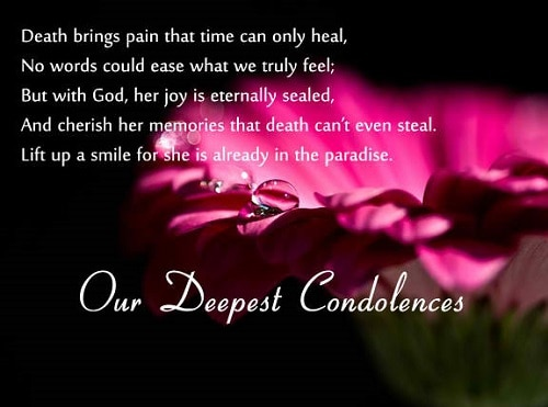 Death Sympathy Quotes Amusing 60 Sympathy & Condolence Quotes For Loss With Images