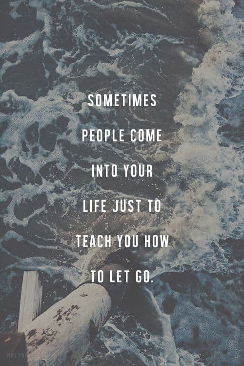 i just let you go