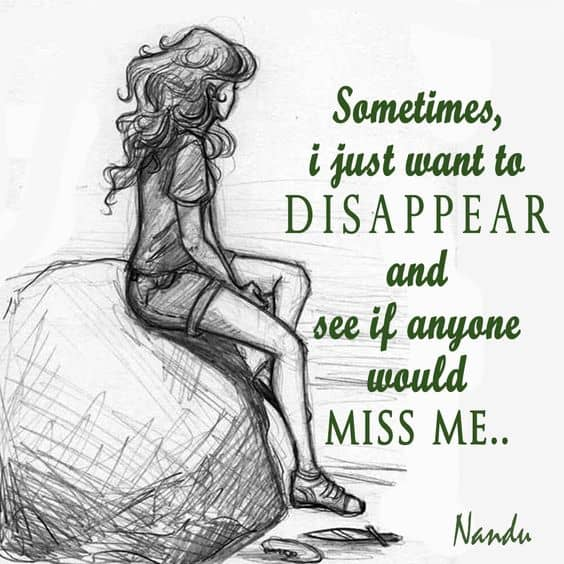 Be Alone Quotes Disappear