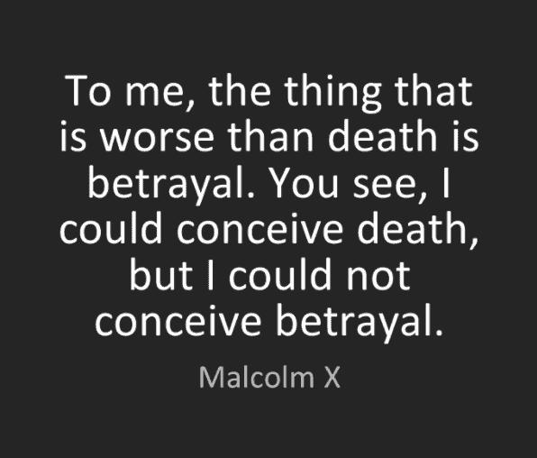 Betrayal Quote Saying