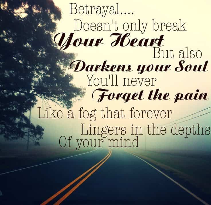 Quotes about feeling betrayed