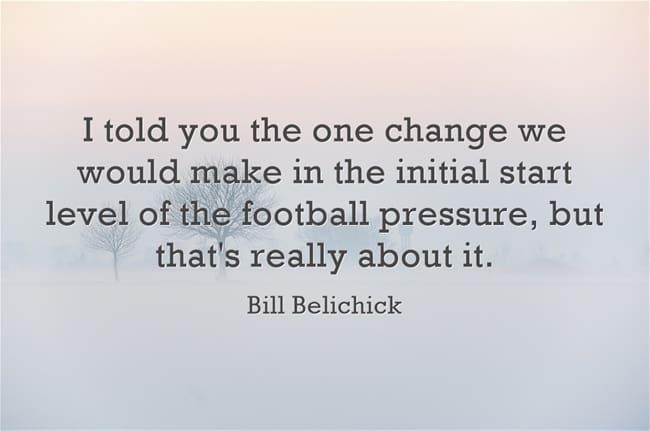 bill belichick quote