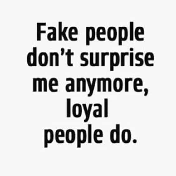 Quotes on fake people