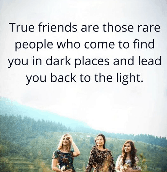 Friendship Quote On True Friends