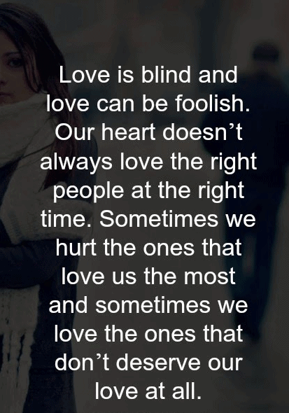 Quotes of love and pain