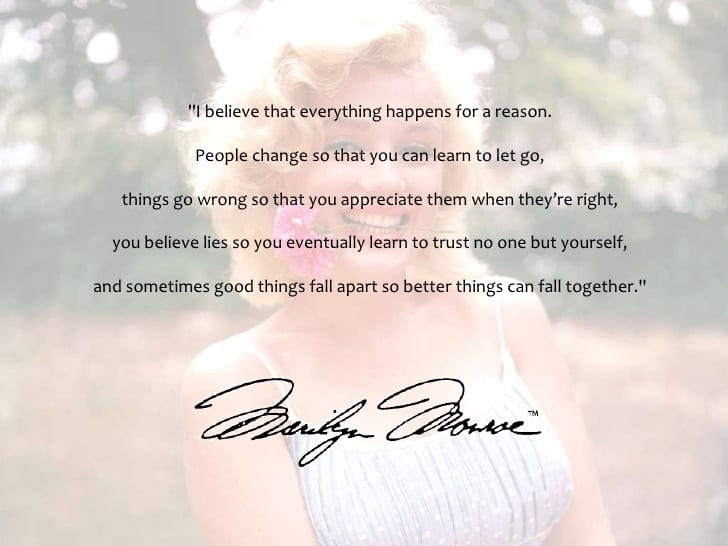 I Appreciate You Quotes For Loved Ones Endearing 70 Best Marilyn Monroe Quotes On Love And Life