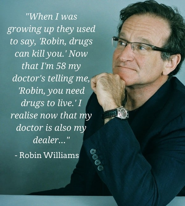 Robin Williams Quote on Growing Up