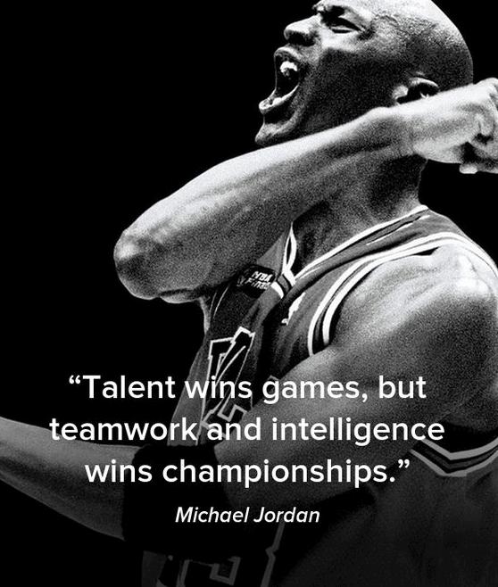 teamwork wins championship essay Talent wins games, but teamwork and intelligence wins championships - michael jordan.