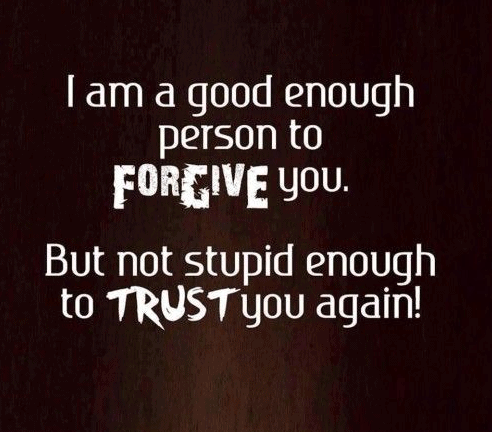 Trusting someone again