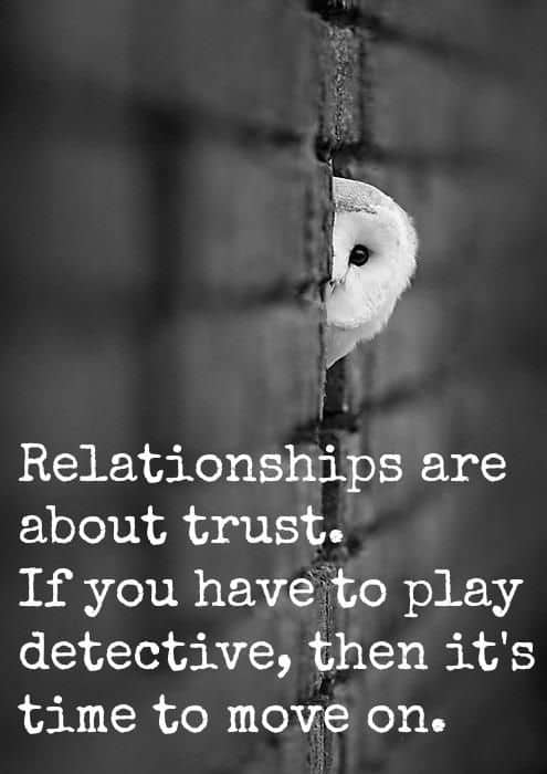 Trust issues in a relationship