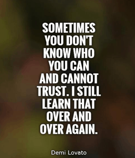 Quotes On Trust And Trust Issues Sayings. U201c