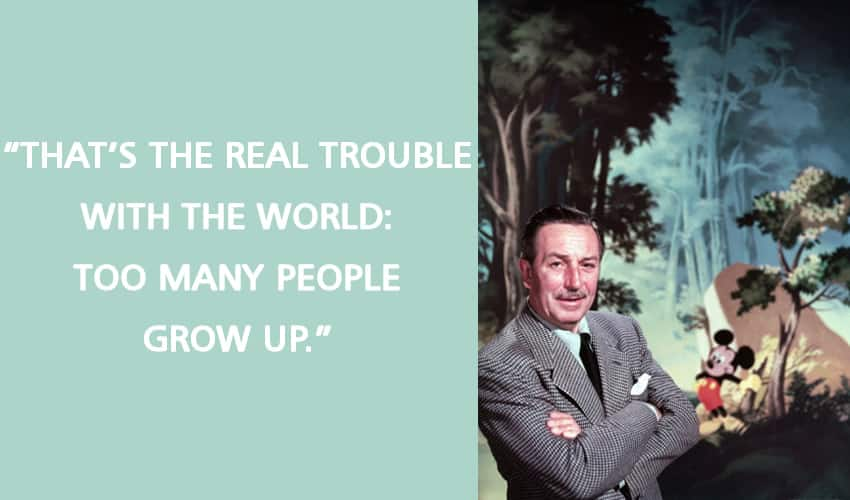 Walt Disney Quotes About Growing Up - art skin