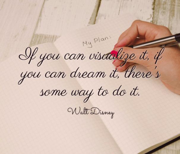 Walt Disney Quotes. Visualize dream