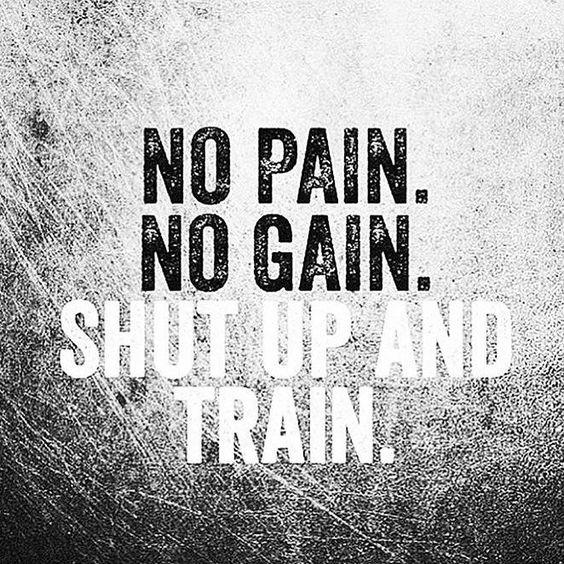 Workout Quotes. No pain. No gain