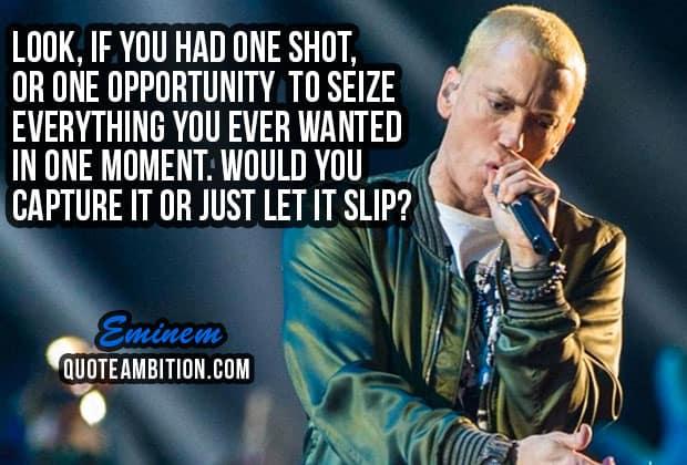 70 best eminem quotes on life music success eminem quotes altavistaventures Choice Image