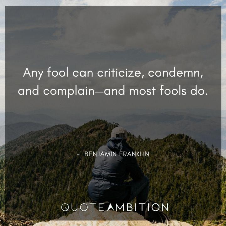 Benjamin Franklin Quotes About Fools