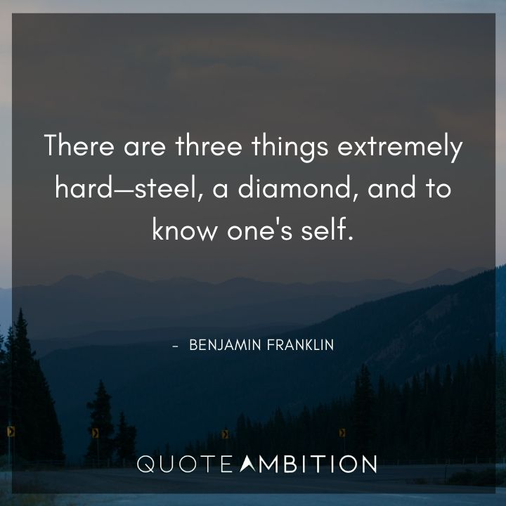 Benjamin Franklin Quotes on Hard Things