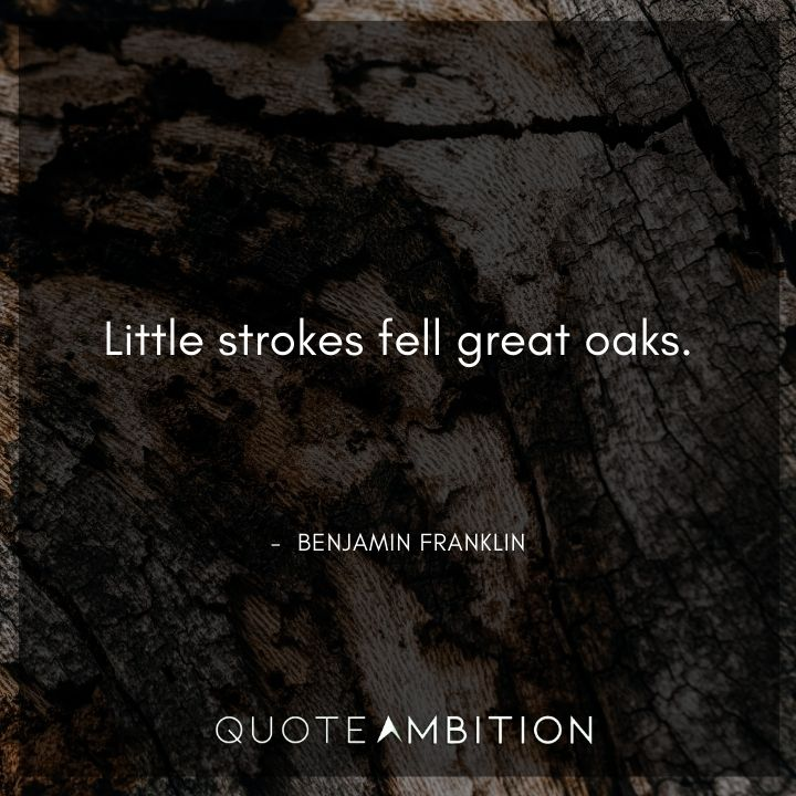 Benjamin Franklin Quotes on Little Strokes