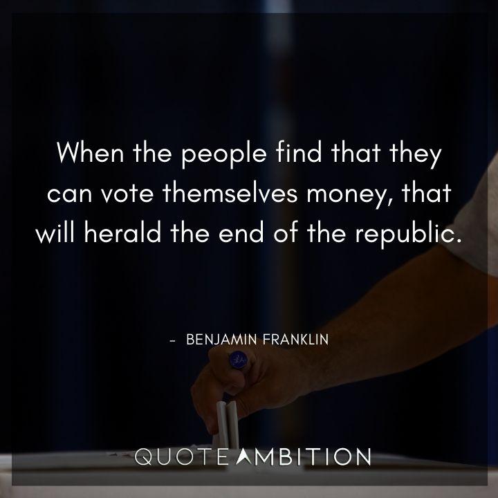 Benjamin Franklin Quotes on Money