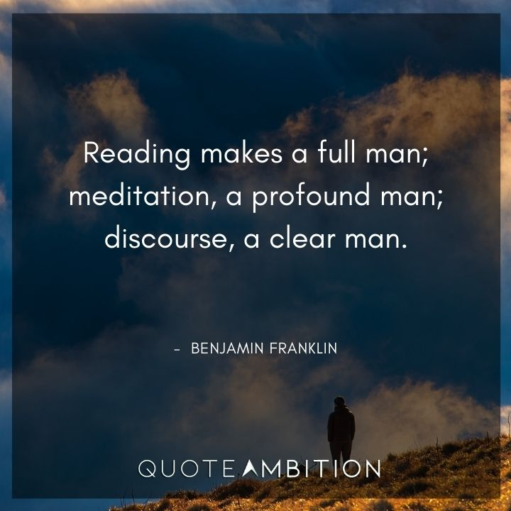 Benjamin Franklin Quotes on Reading