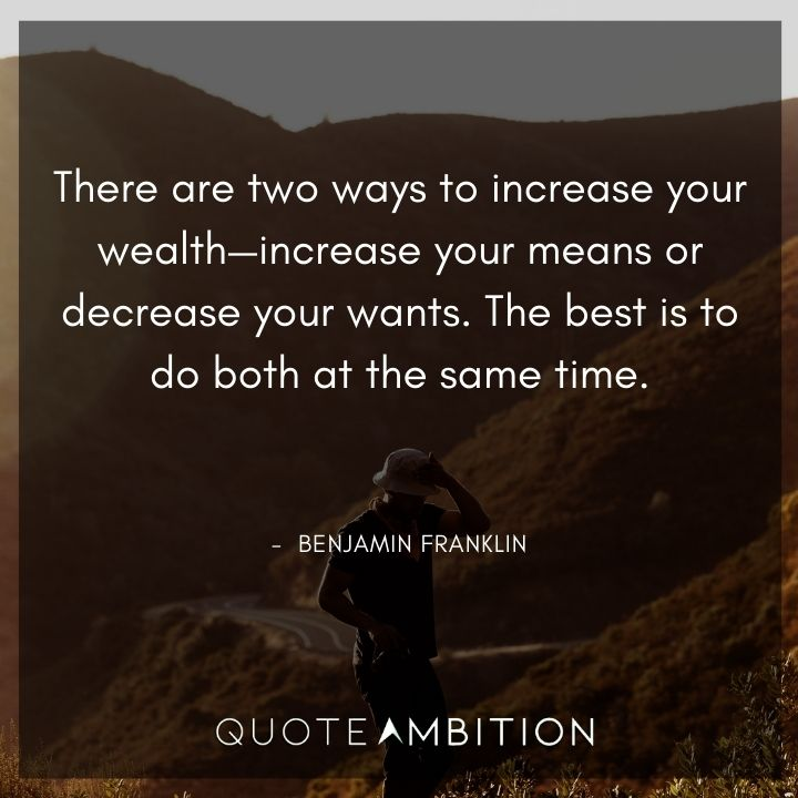 Benjamin Franklin Quotes on Wealth