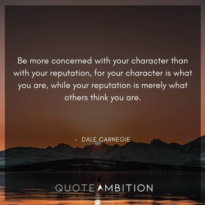 Dale Carnegie Quotes on Character