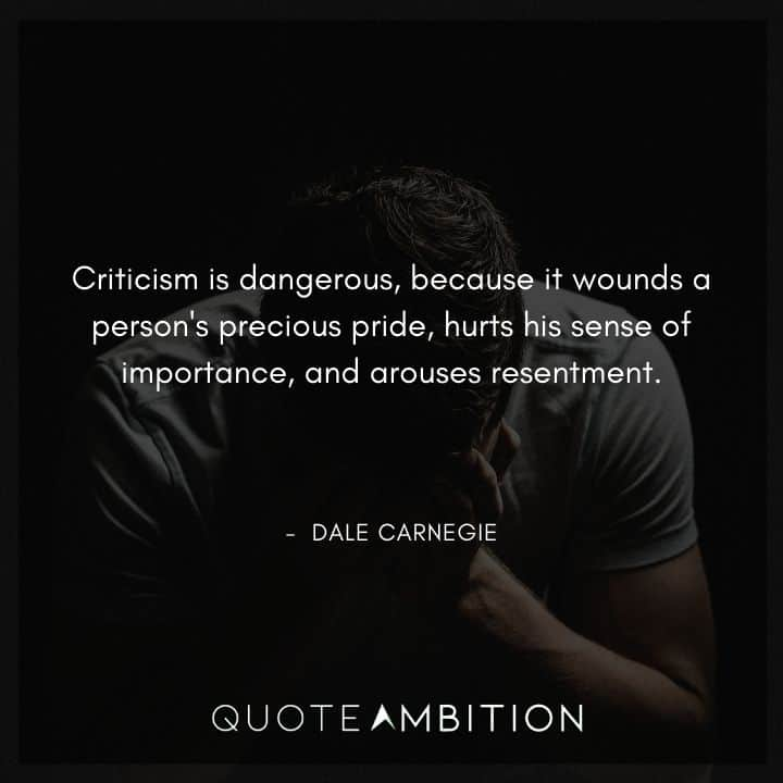 Dale Carnegie Quotes on Criticism