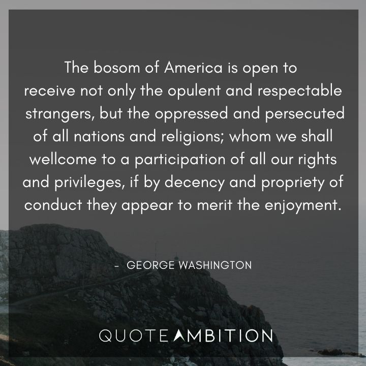 George Washington Quotes About America