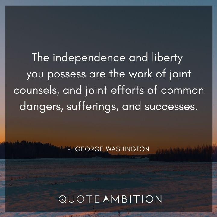 George Washington Quotes on Independence