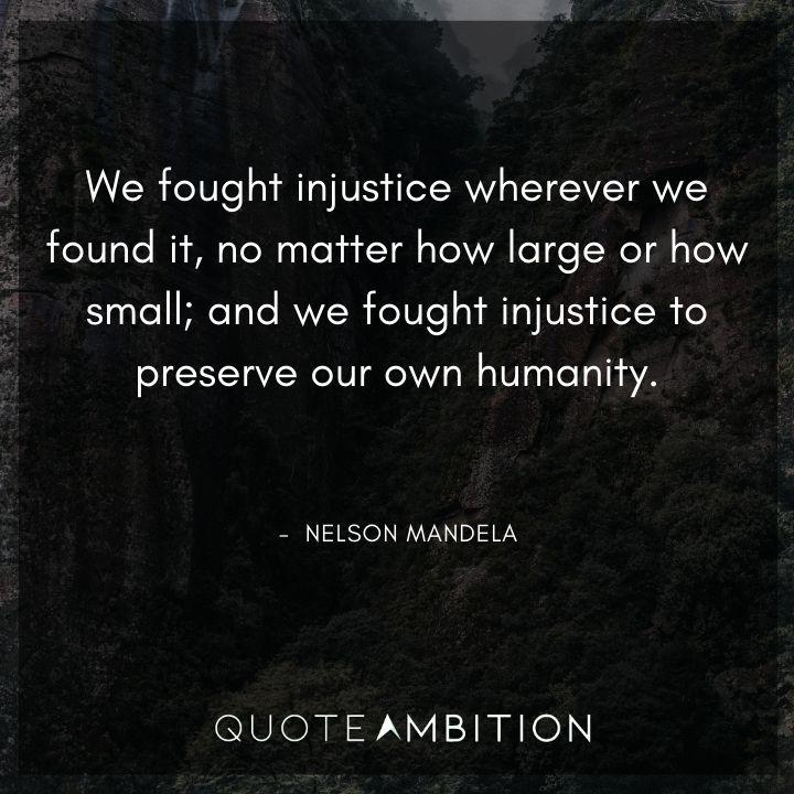 Nelson Mandela Quotes on Injustice
