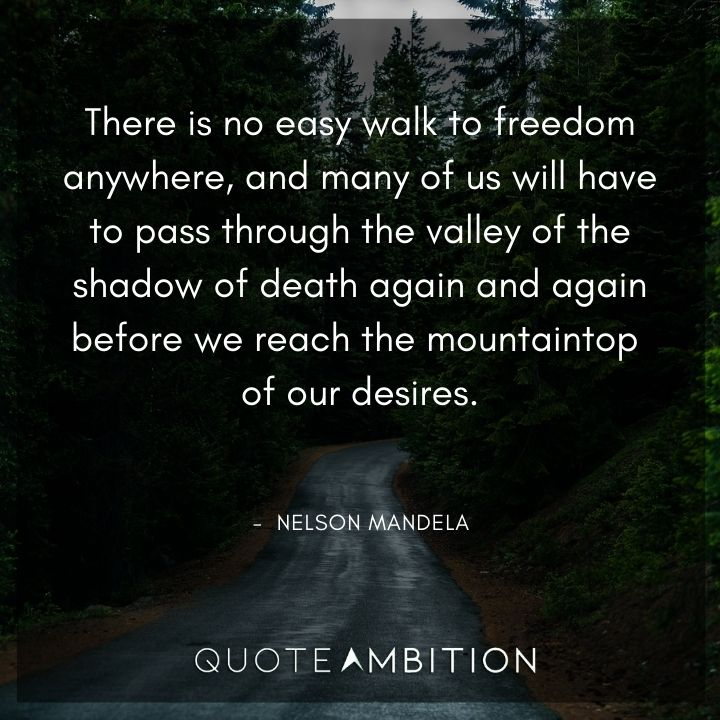 Nelson Mandela Quotes - There is no easy walk to freedom anywhere.