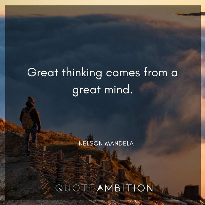 Nelson Mandela Quotes on Great Thinking