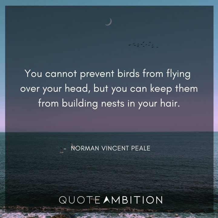 Norman Vincent Peale Quotes About Birds