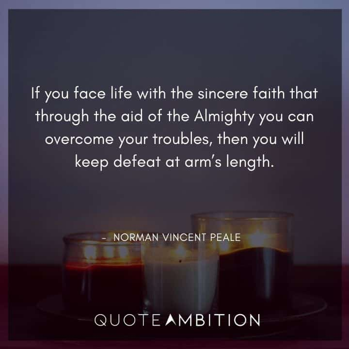 Norman Vincent Peale Quotes on Faith