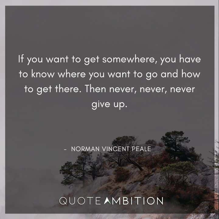 Norman Vincent Peale Quotes - If you want to get somewhere, you have to know where you want to go and how to get there.