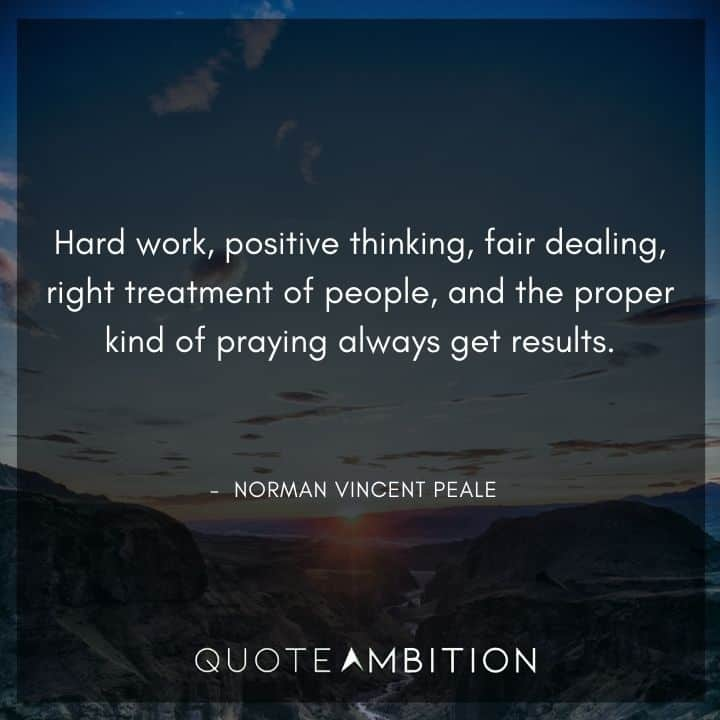 Norman Vincent Peale Quotes on Hard Work