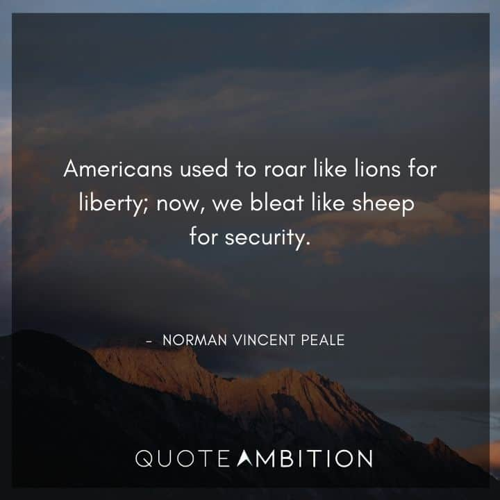 Norman Vincent Peale Quotes on Liberty