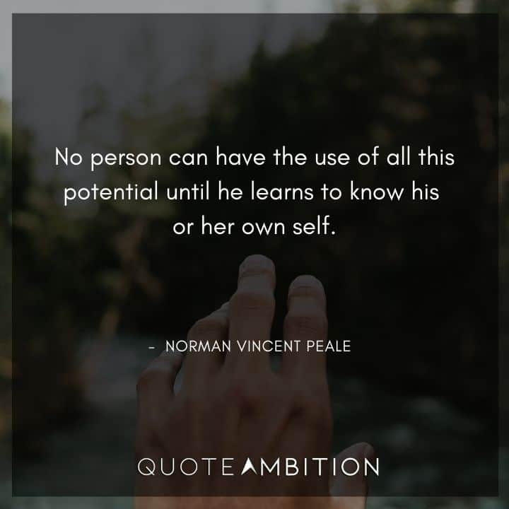 Norman Vincent Peale Quotes on Using the Potential