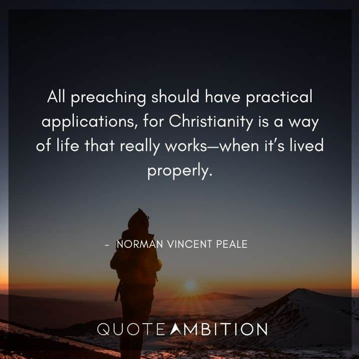 Norman Vincent Peale Quotes on Preaching