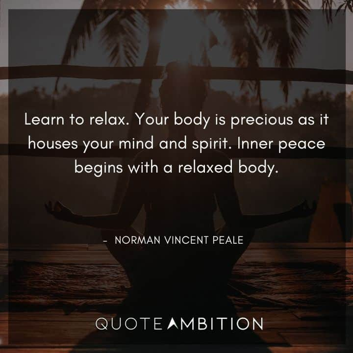 Norman Vincent Peale Quotes on Relaxing