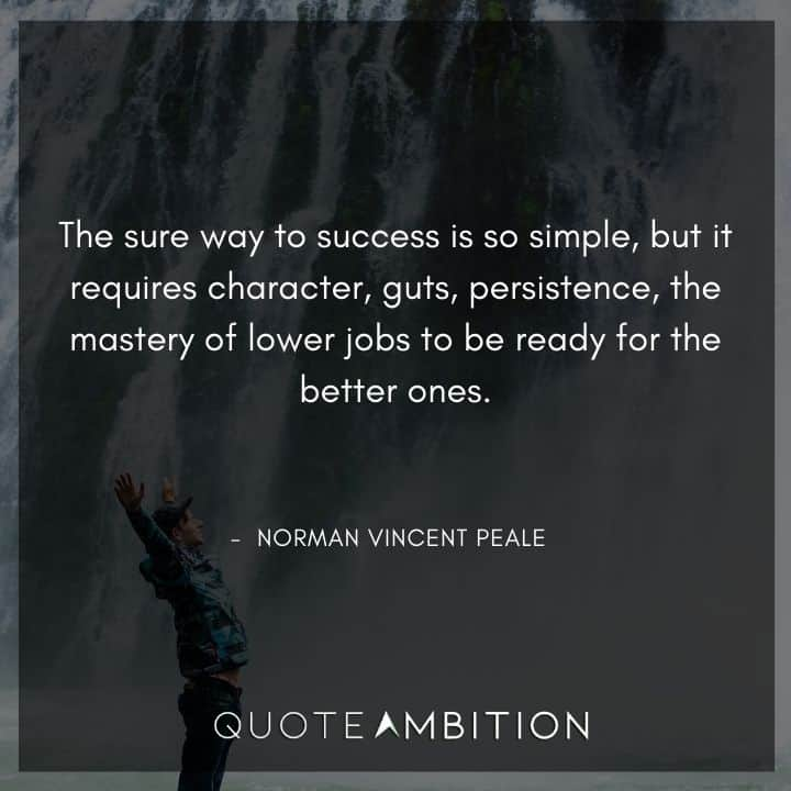 Norman Vincent Peale Quotes on Success