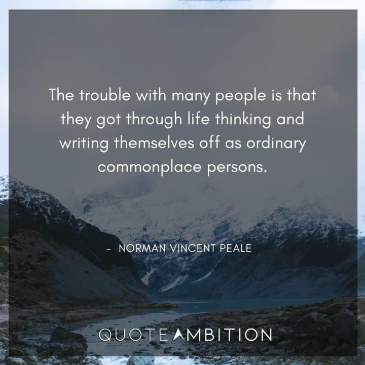 Norman Vincent Peale Quotes on Troubles