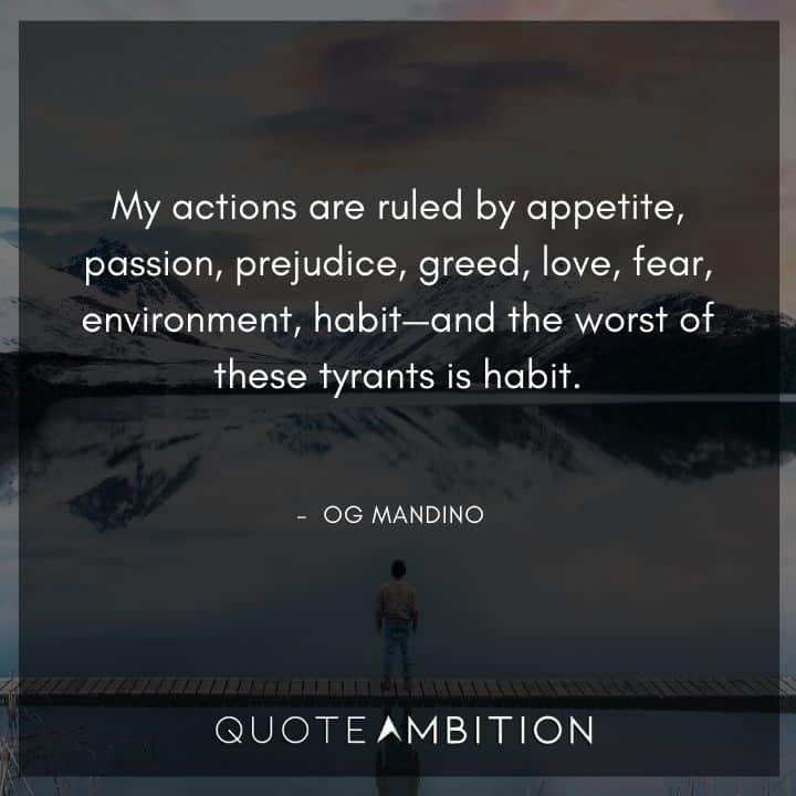 Og Mandino Quotes About Actions