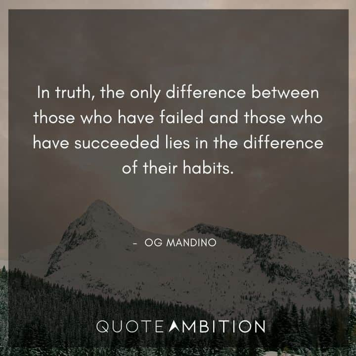 Og Mandino Quotes About Habits