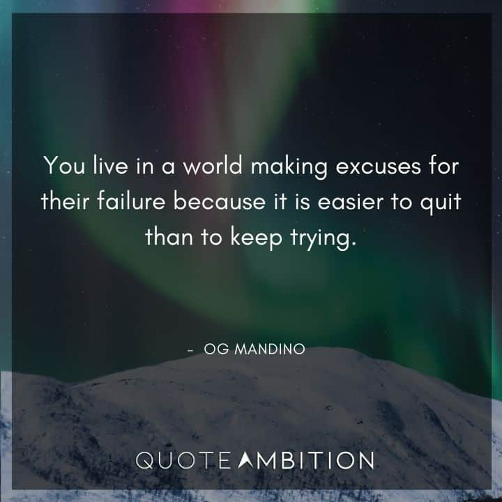 Og Mandino Quotes on Keep Trying
