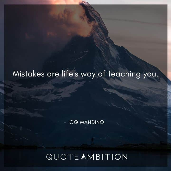 Og Mandino Quotes on Mistakes