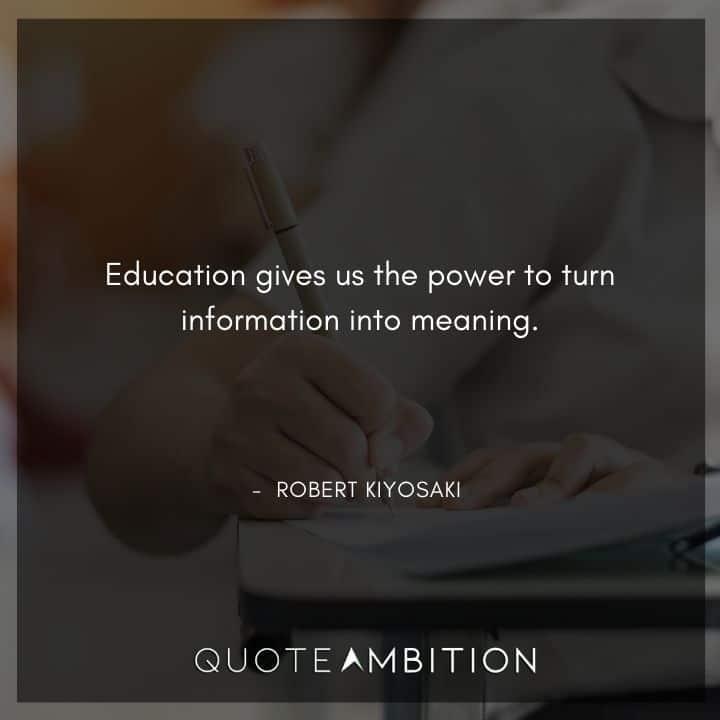 Robert Kiyosaki Quotes on Education