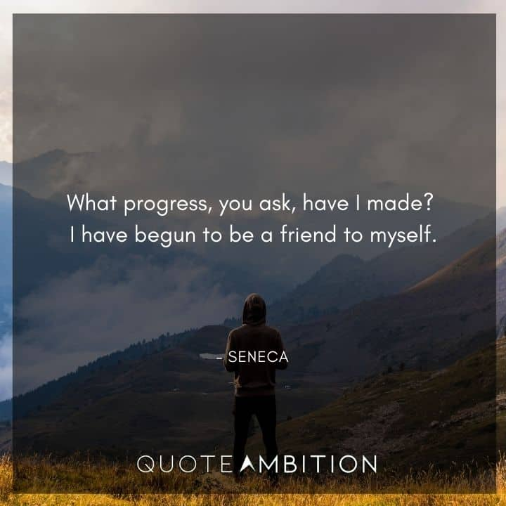 Seneca Quote - What progress, you ask, have I made?